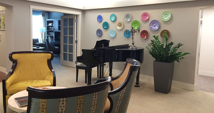An image of planters in an assisted living facility